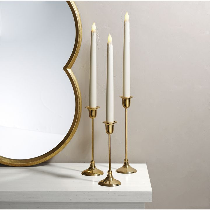 Arden Brass Taper Candle Holder, Small