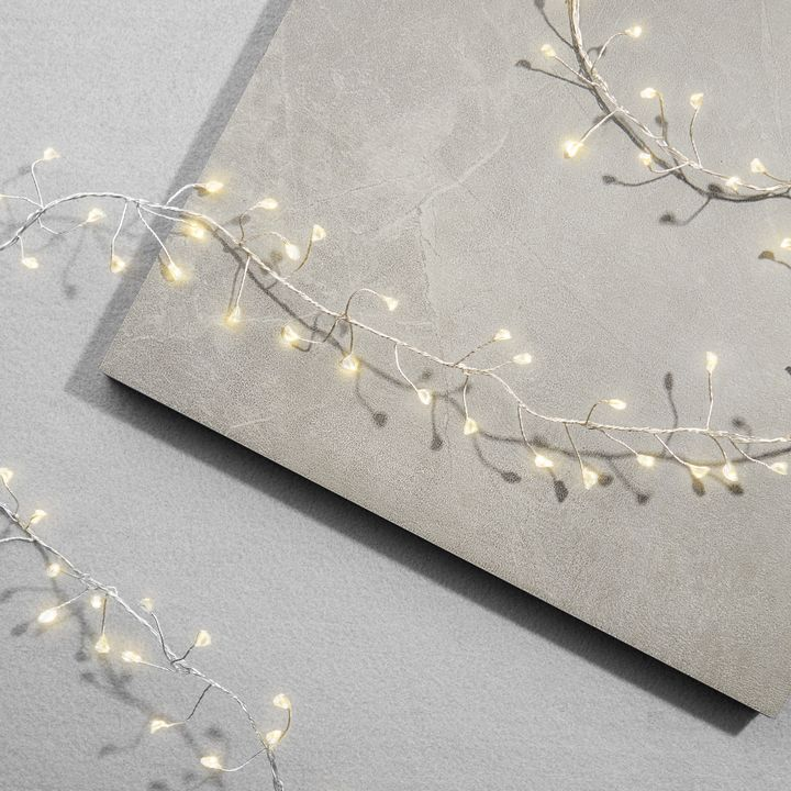 Starry Silver Cluster Fairy String Lights, 5ft