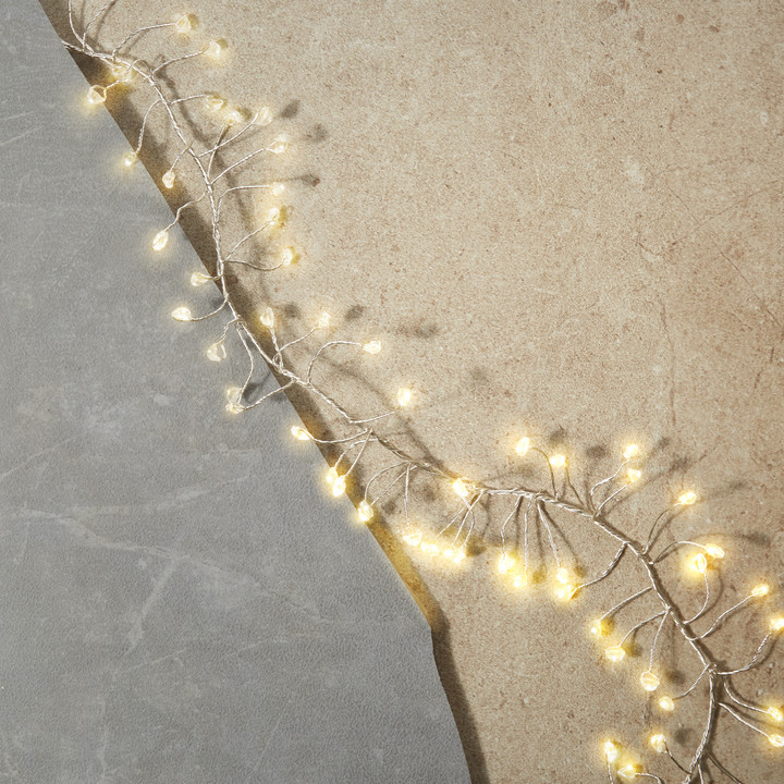 Starry Silver Cluster Fairy String Lights, 25ft