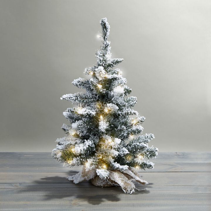 Telluride Frosted Faux Pine Tree, 24""