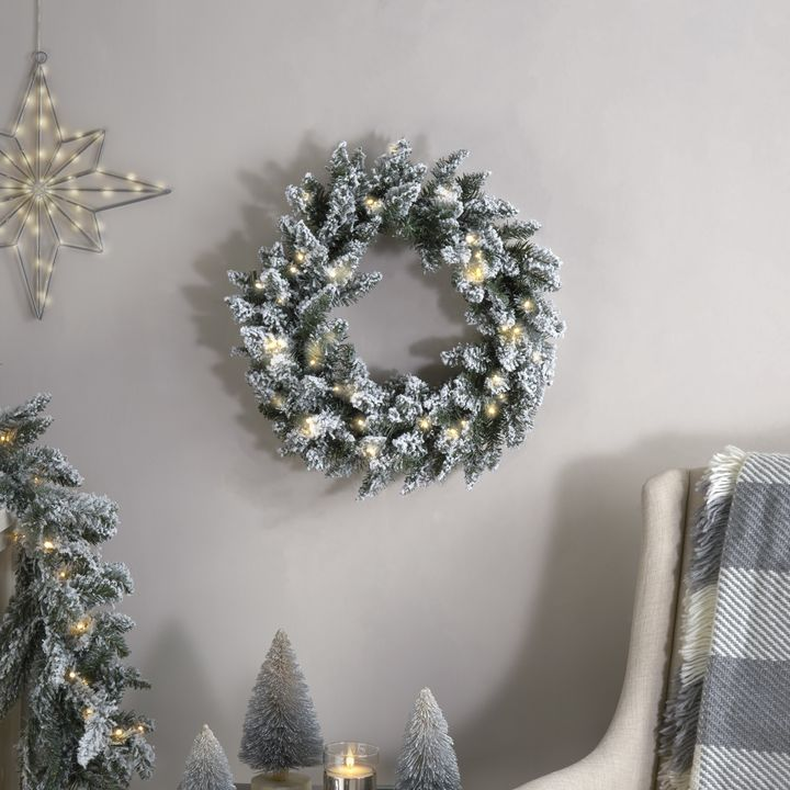 Telluride Frosted Faux Pine Wreath