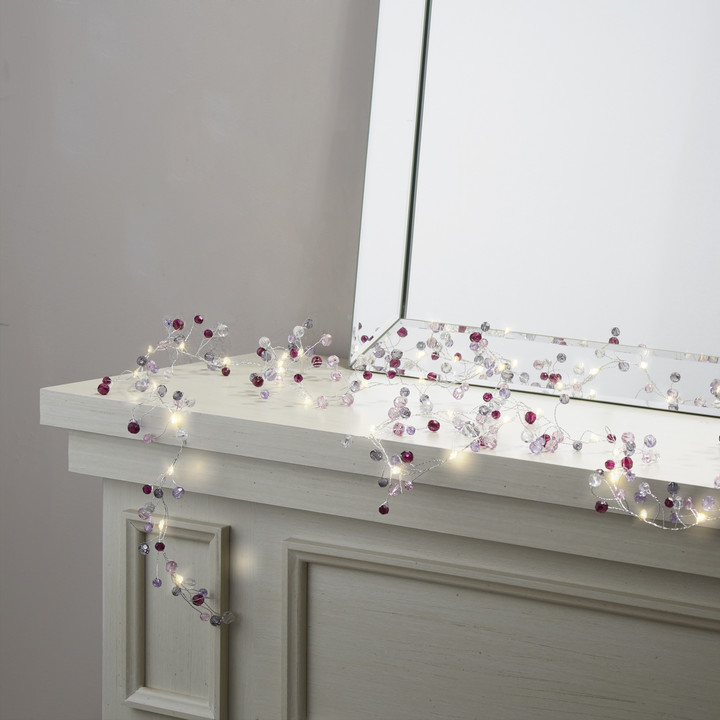 Confetti Purple Garland Fairy String Lights, 8 ft.