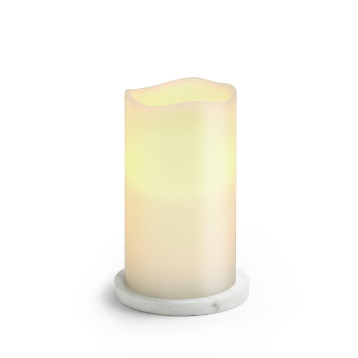 Vesta White Marble Pillar Plate