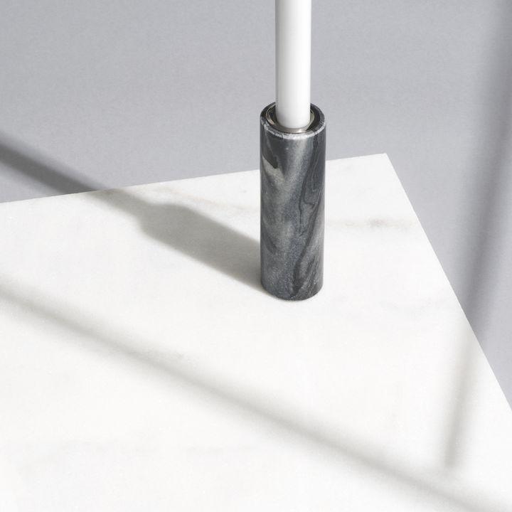 "Moneta Gray Marble Taper Candle Holder, 5"""