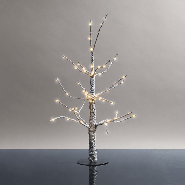 Frosted LED-Wrapped Wintry Tree, 18""