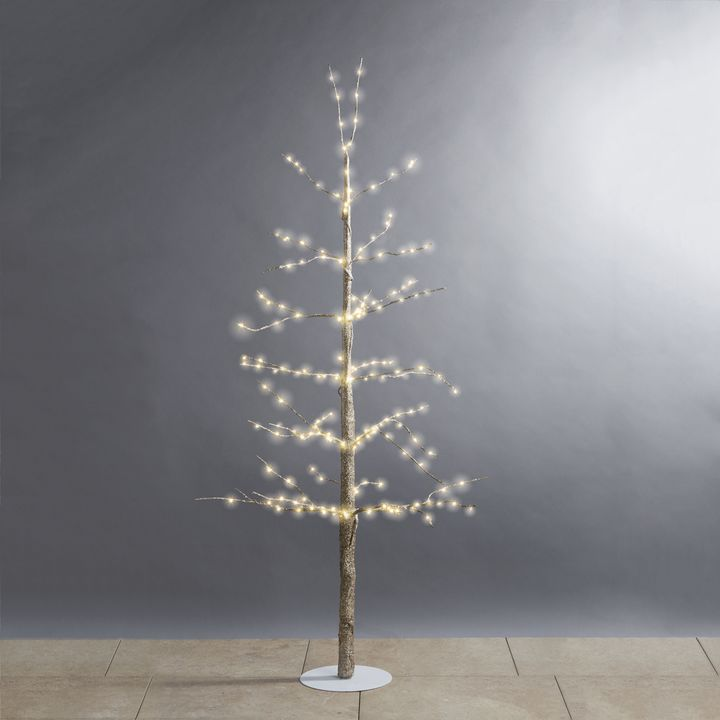 """Glittering LED-Wrapped Wintry Tree, 48"""""""