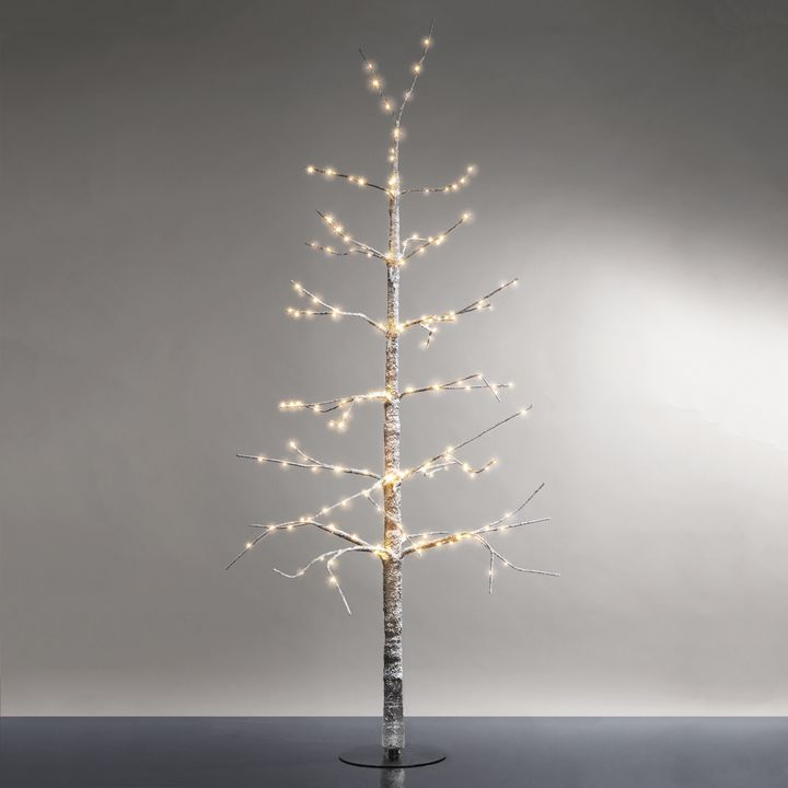 """Frosted LED-Wrapped Wintry Tree, 48"""""""