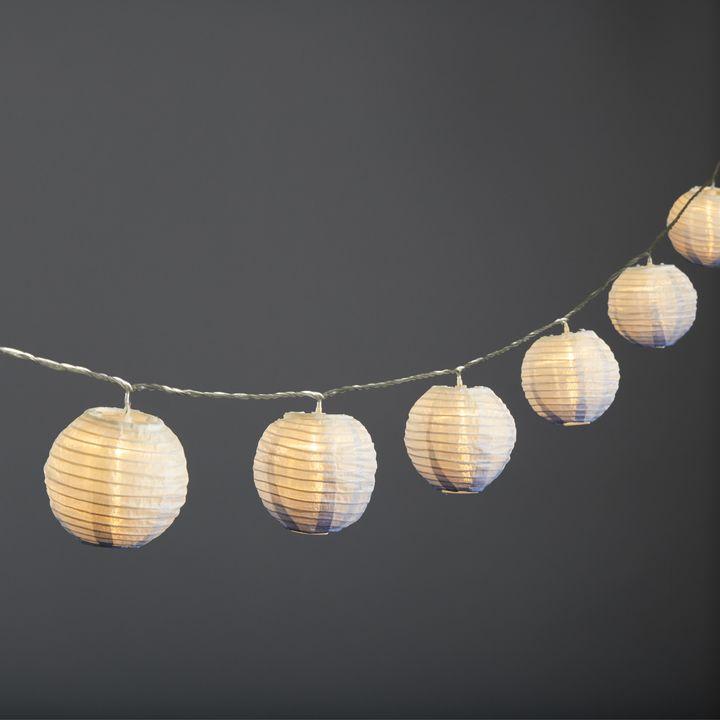"""Ara Midnight Ombre 3"""" Lantern String Lights, Strand of 10"""