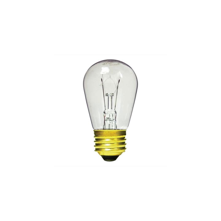 Clear S14 Incandescent Bulbs 11W (E26), Set of 15
