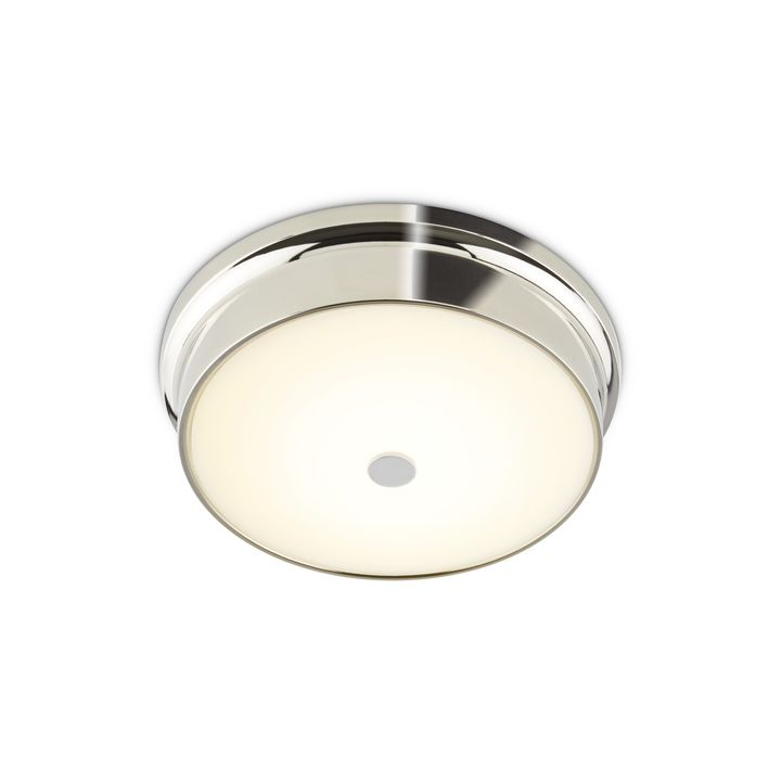 "Abbey 12"" LED Flush Mount, Polished Nickel"