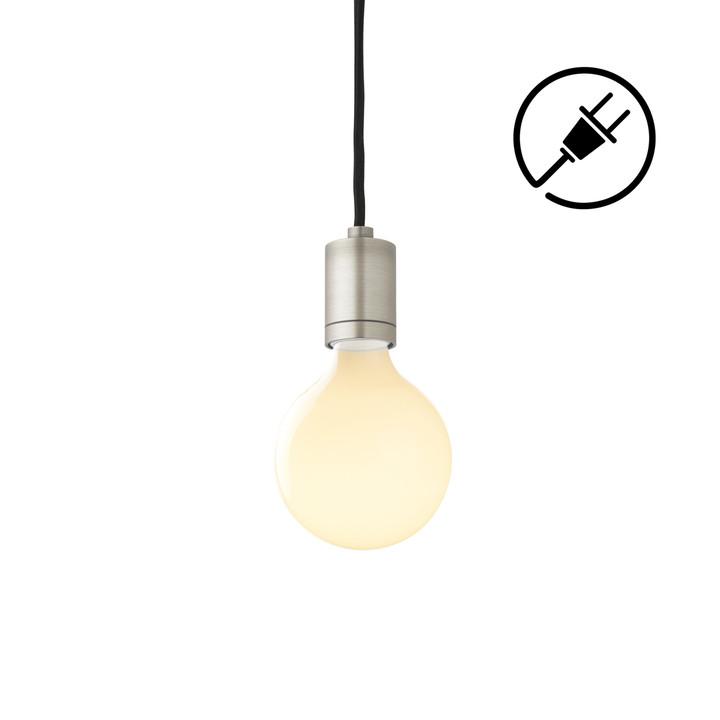 Arlo Plug-In Pendant, Satin Nickel