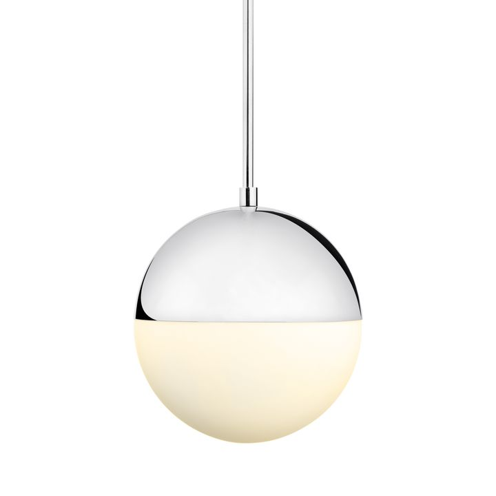 "Powell LED 10"" Chrome Globe Pendant"