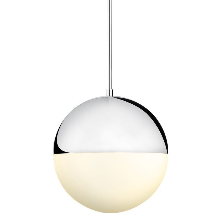 "Powell LED 14"" Chrome Globe Pendant"