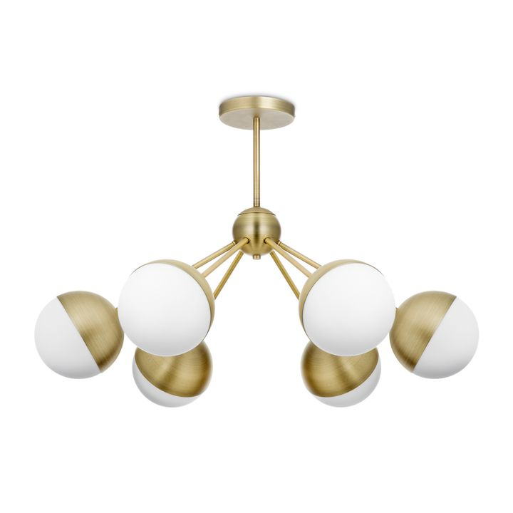 Lights.com | Ceiling | Chandeliers | Powell LED 6-Light Chandelier on