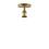 Alton Flush Mount, Aged Brass