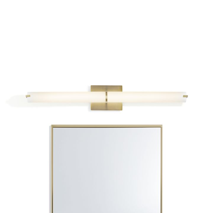 "Atlas 35.5"" LED Vanity Light, Aged Brass"