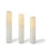 Touchstone Double LED Melted-Edge Slim Wax Flameless Pillar Candles, Set of 3