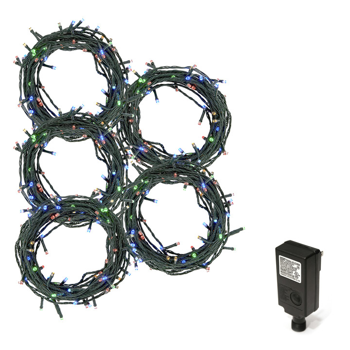 150 ft. Multicolor LED Christmas Lights, Plug-In