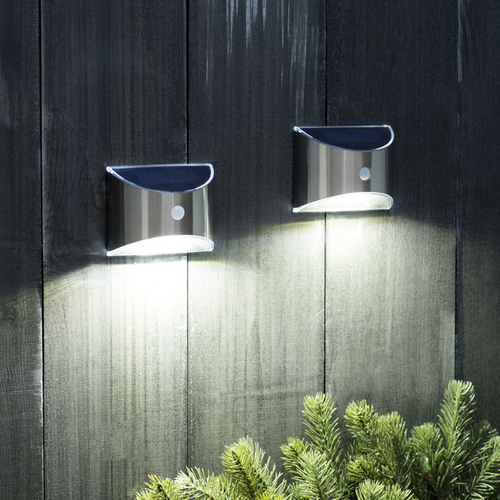 Nova Solar Wall Light with Motion Detection, Set of 2