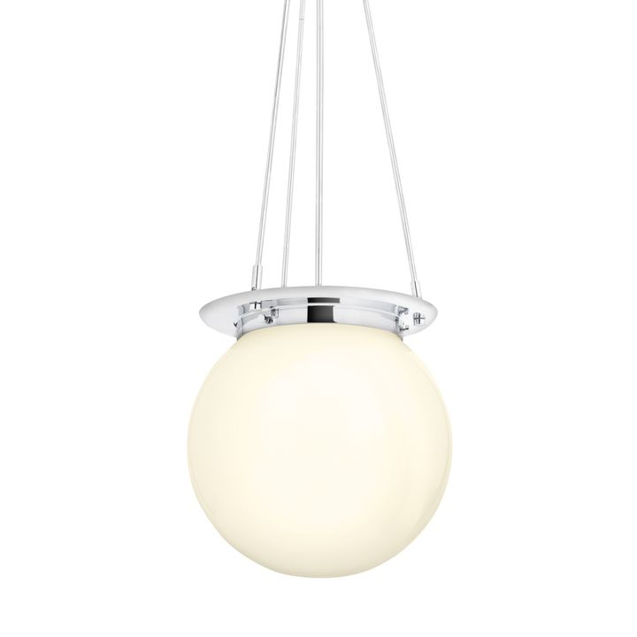 Regent Chrome White Globe Pendant