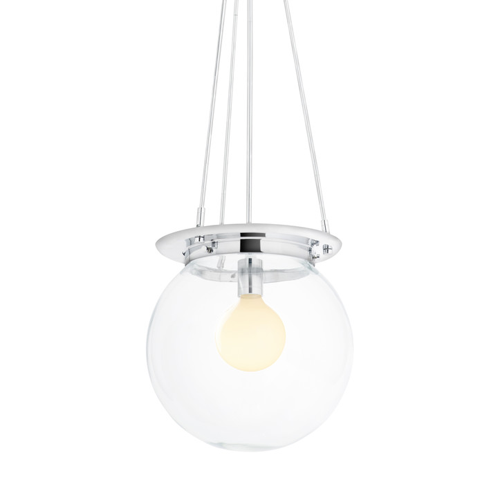 Regent Chrome Clear Globe Pendant