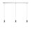 3-Light Rectangle Canopy with 3 Arlo Pendants, Chrome