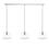 3-Light Rectangle Canopy with Alton Pendants, Schoolhouse Glass and Rod Sets, Chrome