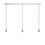 3-Light Rectangle Canopy with 3 Alton Pendants and 3 Rod Sets, Chrome