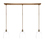 3-Light Rectangle Canopy with Alton Pendants, Chic Dome Glass and Rod Sets, Bronze