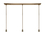 3-Light Rectangle Canopy with 3 Alton Pendants and 3 Rod Sets, Bronze