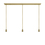3-Light Rectangle Canopy with 3 Alton Pendants and 3 Rod Sets, Aged Brass