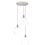 3-Light Round Canopy with Alton Pendants, Chic Dome Glass and Rod Sets, Satin Nickel
