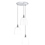 3-Light Round Canopy with Alton Pendants, Chic Dome Glass and Rod Sets, Chrome