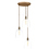 3-Light Round Canopy with Alton Pendants, Chic Dome Glass and Rod Sets, Bronze