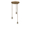 3-Light Round Canopy with 3 Alton Pendants and 3 Rod Sets, Bronze