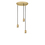 3-Light Round Canopy with 3 Arlo Plug-In Pendants, Aged Brass