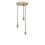 3-Light Round Canopy with 3 Alton Pendants, Aged Brass