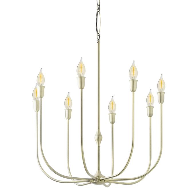 Arden 8-Light Chandelier, Aged Brass