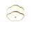 """Anja 18"""" Scalloped Fabric Flush Mount, Aged Brass"""