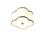 "Isla 14"" LED Fabric Shade Scalloped Flush Mount, Aged Brass"
