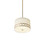 "Anja 14"" Fabric Shade Pendant, Aged Brass"