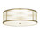 "Harper 24"" LED Round Glass Rod Flush Mount, Aged Brass"