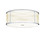 "Harper 18"" LED Round Glass Rod Flush Mount, Polished Nickel"