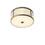 """Harper 14"""" Round Glass Rod Flush Mount, Aged Brass"""