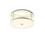 "Harper 14"" Round Glass Rod Flush Mount, Polished Nickel"