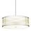 """Harper 24"""" LED Glass Rod Pendant, Polished Nickel"""