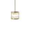 "Harper 8.5"" Glass Rod Pendant, Aged Brass"