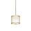 """Harper 8.5"""" LED Glass Rod Pendant, Aged Brass"""