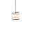 "Harper 8.5"" Glass Rod Pendant, Polished Nickel"