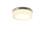 """Finn 11"""" LED Round Glass Flush Mount, Satin Nickel"""